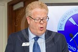 The Boat Race season 2014 - Crew Announcement and Weigh In: Michael Cole-Fontayn, speaking for the Boat Race sponsors BNY Mellon and Newton.. BNY Mellon Centre, London EC4V 4LA, London, United Kingdom, on 10 March 2014 at 11:40, image #9