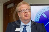 The Boat Race season 2014 - Crew Announcement and Weigh In: Michael Cole-Fontayn, speaking for the Boat Race sponsors BNY Mellon and Newton.. BNY Mellon Centre, London EC4V 4LA, London, United Kingdom, on 10 March 2014 at 11:42, image #10