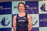 The Boat Race season 2014 - Crew Announcement and Weigh In: The 2014 Women's Boat Race crews: Oxford bow Elizabeth Fenje - 58.6kg.. BNY Mellon Centre, London EC4V 4LA, London, United Kingdom, on 10 March 2014 at 11:44, image #14