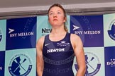 The Boat Race season 2014 - Crew Announcement and Weigh In: The 2014 Women's Boat Race crews:  Oxford 3 seat Maxie Scheske - 64.8kg.. BNY Mellon Centre, London EC4V 4LA, London, United Kingdom, on 10 March 2014 at 11:46, image #23