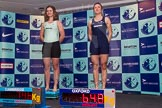 The Boat Race season 2014 - Crew Announcement and Weigh In: The 2014 Women's Boat Race crews, Cambridge 3 seat Holly Game and Oxford 3 seat Maxie Scheske.. BNY Mellon Centre, London EC4V 4LA, London, United Kingdom, on 10 March 2014 at 11:46, image #25