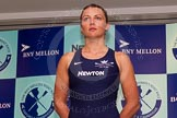 The Boat Race season 2014 - Crew Announcement and Weigh In: The 2014 Women's Boat Race crews: Oxford 4 seat Nadine Graedel Iberg - 72.6kg.. BNY Mellon Centre, London EC4V 4LA, London, United Kingdom, on 10 March 2014 at 11:47, image #29