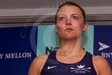 The Boat Race season 2014 - Crew Announcement and Weigh In: The 2014 Women's Boat Race crews: Oxford 4 seat Nadine Graedel Iberg - 72.6kg.. BNY Mellon Centre, London EC4V 4LA, London, United Kingdom, on 10 March 2014 at 11:47, image #30