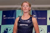 The Boat Race season 2014 - Crew Announcement and Weigh In: The 2014 Women's Boat Race crews: Oxford 7 seat Amber De Vere - 72kg.. BNY Mellon Centre, London EC4V 4LA, London, United Kingdom, on 10 March 2014 at 11:49, image #45