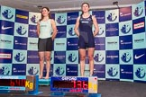 The Boat Race season 2014 - Crew Announcement and Weigh In: The 2014 Women's Boat Race crews, Cambridge stroke Emily Day  and Oxford stroke Laura Savarese.. BNY Mellon Centre, London EC4V 4LA, London, United Kingdom, on 10 March 2014 at 11:50, image #49