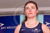 The Boat Race season 2014 - Crew Announcement and Weigh In: The 2014 Women's Boat Race crews: Oxford stroke Laura Savarese - 73.6kg.. BNY Mellon Centre, London EC4V 4LA, London, United Kingdom, on 10 March 2014 at 11:50, image #51