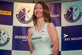 The Boat Race season 2014 - Crew Announcement and Weigh In: The 2014 Women's Boat Race crews: Cambridge cox Esther Momcilovic  - 52.4kg.. BNY Mellon Centre, London EC4V 4LA, London, United Kingdom, on 10 March 2014 at 11:51, image #57