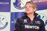 The Boat Race season 2014 - Crew Announcement and Weigh In: The 2014 Women's Boat Race coaches: Christine Wilson, Oxford.. BNY Mellon Centre, London EC4V 4LA, London, United Kingdom, on 10 March 2014 at 11:53, image #63