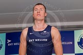 The Boat Race season 2014 - Crew Announcement and Weigh In: The 2014 Boat Race crews: Oxford 3 seat Karl Hudpith - 91kg.. BNY Mellon Centre, London EC4V 4LA, London, United Kingdom, on 10 March 2014 at 12:00, image #86