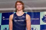The Boat Race season 2014 - Crew Announcement and Weigh In: The 2014 Boat Race crews: Oxford 4 seat Thomas Swartz, 81.2kg.. BNY Mellon Centre, London EC4V 4LA, London, United Kingdom, on 10 March 2014 at 12:01, image #91