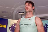 The Boat Race season 2014 - Crew Announcement and Weigh In: The 2014 Boat Race crews: Cambridge 4 seat Steve Dudek - 101kg.. BNY Mellon Centre, London EC4V 4LA, London, United Kingdom, on 10 March 2014 at 12:01, image #92