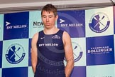 The Boat Race season 2014 - Crew Announcement and Weigh In: The 2014 Boat Race crews: Oxford 5 seat Malcolm Howard - 108.2kg.. BNY Mellon Centre, London EC4V 4LA, London, United Kingdom, on 10 March 2014 at 12:02, image #95