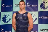 The Boat Race season 2014 - Crew Announcement and Weigh In: The 2014 Boat Race crews: Oxford 6 seat Michael DiSanto - 89.2kg.. BNY Mellon Centre, London EC4V 4LA, London, United Kingdom, on 10 March 2014 at 12:03, image #100