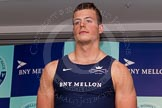 The Boat Race season 2014 - Crew Announcement and Weigh In: The 2014 Boat Race crews: Oxford 6 seat Michael DiSanto - 89.2kg.. BNY Mellon Centre, London EC4V 4LA, London, United Kingdom, on 10 March 2014 at 12:03, image #102