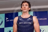 The Boat Race season 2014 - Crew Announcement and Weigh In: The 2014 Boat Race crew: Oxford 7 seat Sam O'Connor - 88.8kg.. BNY Mellon Centre, London EC4V 4LA, London, United Kingdom, on 10 March 2014 at 12:04, image #106