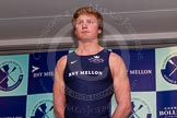 The Boat Race season 2014 - Crew Announcement and Weigh In: The 2014 Boat Race crews: Oxford stroke Constantine Louloudis - 93.6kg.. BNY Mellon Centre, London EC4V 4LA, London, United Kingdom, on 10 March 2014 at 12:05, image #111