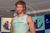 The Boat Race season 2014 - Crew Announcement and Weigh In: The 2014 Boat Race crews: Cambridge stroke Henry Hoffstot - 89.6kg.. BNY Mellon Centre, London EC4V 4LA, London, United Kingdom, on 10 March 2014 at 12:05, image #114