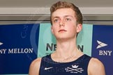 The Boat Race season 2014 - Crew Announcement and Weigh In: The 2014 Boat Race crews: Oxford cox Laurence Harvey 54.8kg.. BNY Mellon Centre, London EC4V 4LA, London, United Kingdom, on 10 March 2014 at 12:06, image #119