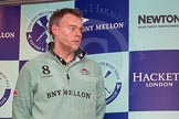 The Boat Race season 2014 - Crew Announcement and Weigh In: The 2014 Boat Race coaches: Cambridge - Steve Trapmore.. BNY Mellon Centre, London EC4V 4LA, London, United Kingdom, on 10 March 2014 at 12:07, image #122