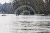 The Women's Boat Race and Henley Boat Races 2014: The Intercollegiate women's race. The Wadham College (Oxford) boat is on the right, Trinity College (Cambridge) on the left.. River Thames, Henley-on-Thames, Buckinghamshire, United Kingdom, on 30 March 2014 at 13:26, image #9
