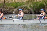The Women's Boat Race and Henley Boat Races 2014: The Intercollegiate women's race. The Wadham College (Oxford) boat, 4 seat Rachel Anderson, 3 Lia Orlando.. River Thames, Henley-on-Thames, Buckinghamshire, United Kingdom, on 30 March 2014 at 13:27, image #19