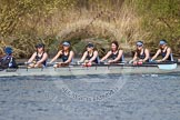 The Women's Boat Race and Henley Boat Races 2014: The Intercollegiate women's race. The Wadham College (Oxford) boat in the lead.. River Thames, Henley-on-Thames, Buckinghamshire, United Kingdom, on 30 March 2014 at 13:27, image #33