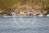 The Women's Boat Race and Henley Boat Races 2014: The Intercollegiate women's race. The Wadham College (Oxford) boat in the lead.. River Thames, Henley-on-Thames, Buckinghamshire, United Kingdom, on 30 March 2014 at 13:28, image #38