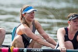 The Women's Boat Race and Henley Boat Races 2014: The Intercollegiate Women 's Race, in the Wadham College boat 7 seat Katia Mandaltsi and at stroke Hannah Lewis.. River Thames, Henley-on-Thames, Buckinghamshire, United Kingdom, on 30 March 2014 at 13:39, image #68