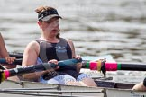 The Women's Boat Race and Henley Boat Races 2014: The Intercollegiate Women 's Race, in the Wadham College boat stroke Hannah Lewis.. River Thames, Henley-on-Thames, Buckinghamshire, United Kingdom, on 30 March 2014 at 13:39, image #70
