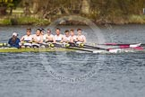The Women's Boat Race and Henley Boat Races 2014: The Intercollegiate men's race. Downing College (Cambridge, on the right) and Oriel College (Oxford) getting close again.. River Thames, Henley-on-Thames, Buckinghamshire, United Kingdom, on 30 March 2014 at 13:52, image #112