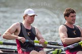 The Women's Boat Race and Henley Boat Races 2014: The Intercollegiate Men 's Race, in the Downing College boat in the 6 seat Andrew Niven, 7 Victor Van Campen.. River Thames, Henley-on-Thames, Buckinghamshire, United Kingdom, on 30 March 2014 at 14:00, image #133