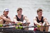 The Women's Boat Race and Henley Boat Races 2014: The Intercollegiate Men 's Race, in the Downing College boat in the 6 seat Andrew Niven, 7 Victor Van Campen, stroke Michael Whetnall.. River Thames, Henley-on-Thames, Buckinghamshire, United Kingdom, on 30 March 2014 at 14:00, image #134