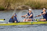 The Women's Boat Race and Henley Boat Races 2014: The Women's Reserves - Osiris v. Blondie race. In Osiris (Oxford) cox Olivia Cleary, stroke Hannah Roberts, 7 Claire Jamison.. River Thames, Henley-on-Thames, Buckinghamshire, United Kingdom, on 30 March 2014 at 14:17, image #168