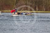The Women's Boat Race and Henley Boat Races 2014: The Women's Reserves - Osiris v. Blondie race. Osiris (Oxford) is just about to win the race.. River Thames, Henley-on-Thames, Buckinghamshire, United Kingdom, on 30 March 2014 at 14:18, image #180