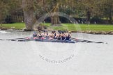 The Women's Boat Race and Henley Boat Races 2014: The Lightweight Women's Boat Race - OUWLRC in the lead, passing Fawlet Court.. River Thames, Henley-on-Thames, Buckinghamshire, United Kingdom, on 30 March 2014 at 14:48, image #219