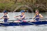 The Women's Boat Race and Henley Boat Races 2014: The OUWLRC boat in the lead - 7 seat Emma Clifton, 6 Zoe Cooper-Sutton, 5 Sophie Philbrick.. River Thames, Henley-on-Thames, Buckinghamshire, United Kingdom, on 30 March 2014 at 14:49, image #232