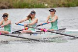 The Women's Boat Race and Henley Boat Races 2014: The CUWBC Lightweights boat with 3 seat Lottie Meggit, 2 Christina Ostacchini, bow  Clare Hall.. River Thames, Henley-on-Thames, Buckinghamshire, United Kingdom, on 30 March 2014 at 14:49, image #235