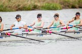 The Women's Boat Race and Henley Boat Races 2014: The CUWBC Lightweights boat with 5 Valentina Futoryanova, 4 Eve Edwards, 3 Lottie Meggit, 2 Christina Ostacchini.. River Thames, Henley-on-Thames, Buckinghamshire, United Kingdom, on 30 March 2014 at 14:49, image #238