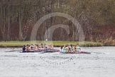 The Women's Boat Race and Henley Boat Races 2014: The Lightweight Women's Boat Race - OUWLRC and CUWBC Lightweights after passing the finish line.. River Thames, Henley-on-Thames, Buckinghamshire, United Kingdom, on 30 March 2014 at 14:50, image #252