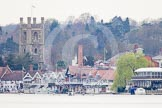 The Women's Boat Race and Henley Boat Races 2014: The start of the Newton Women's Boat Race at Henley. Oxford is on the right (Bucks) side.. River Thames, Henley-on-Thames, Buckinghamshire, United Kingdom, on 30 March 2014 at 15:10, image #277
