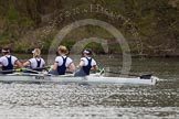 The Women's Boat Race and Henley Boat Races 2014: The Women's Boat Race: Oxford is leading, here the Oxford boat: 4 Lauren Kedar, 3 Maxie Scheske, 2 Alice Carrington-Windo, bow Elizabeth Fenje.. River Thames, Henley-on-Thames, Buckinghamshire, United Kingdom, on 30 March 2014 at 15:14, image #291