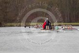 The Women's Boat Race and Henley Boat Races 2014: The Newton Women's Boat Race - Oxford is winning the race, the pree launch is following.. River Thames, Henley-on-Thames, Buckinghamshire, United Kingdom, on 30 March 2014 at 15:15, image #321