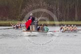 The Women's Boat Race and Henley Boat Races 2014: The Newton Women's Boat Race - a jubilant Oxford crew has won the race.. River Thames, Henley-on-Thames, Buckinghamshire, United Kingdom, on 30 March 2014 at 15:15, image #322