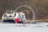 The Women's Boat Race and Henley Boat Races 2014: The Newton Women's Boat Race - a jubilant Oxford crew has won the race.. River Thames, Henley-on-Thames, Buckinghamshire, United Kingdom, on 30 March 2014 at 15:16, image #325