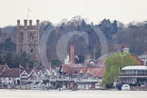 The Women's Boat Race and Henley Boat Races 2014: The Lightweight Men's Boat Race - OULRC vs CULRC - shortly after the start at Henley (the camera position is at Remenham).. River Thames, Henley-on-Thames, Buckinghamshire, United Kingdom, on 30 March 2014 at 15:36, image #353