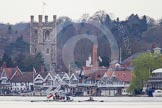 The Women's Boat Race and Henley Boat Races 2014: The start of the Lightweight Men's Boat Race - OULRC vs CULRC, Oxford is on the right (Bucks) side.. River Thames, Henley-on-Thames, Buckinghamshire, United Kingdom, on 30 March 2014 at 15:38, image #354