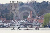 The Women's Boat Race and Henley Boat Races 2014: The start of the Lightweight Men's Boat Race - OULRC vs CULRC, Oxford is on the right (Bucks) side.. River Thames, Henley-on-Thames, Buckinghamshire, United Kingdom, on 30 March 2014 at 15:38, image #355