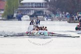 The Women's Boat Race and Henley Boat Races 2014: The Lightweight Men's Boat Race - OULRC vs CULRC, Oxford is on the right (Bucks) side, behind the boats is the umpire's launch.. River Thames, Henley-on-Thames, Buckinghamshire, United Kingdom, on 30 March 2014 at 15:39, image #360