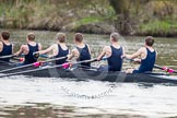 The Women's Boat Race and Henley Boat Races 2014: The Lightweight Men's Boat Race - OULRC vs CULRC. In the Oxford boat 6 seat Rowan Arthur, 5 James Ellison, 4 Robert Leonard, 3 Marcus Henglein, 2 David Zimmer, bow Dan Bowen.. River Thames, Henley-on-Thames, Buckinghamshire, United Kingdom, on 30 March 2014 at 15:40, image #376