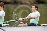 The Women's Boat Race and Henley Boat Races 2014: The Lightweight Men's Boat Race - OULRC vs CULRC. In the leading Cambridge boat 2 seat Emanuel Malek.. River Thames, Henley-on-Thames, Buckinghamshire, United Kingdom, on 30 March 2014 at 15:40, image #380